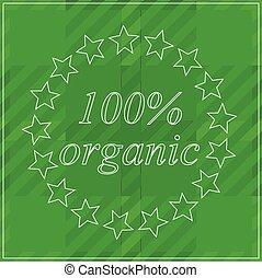 achtergrond, honderd, %, organisch