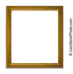 achtergrond, houten, vrijstaand, frame, witte