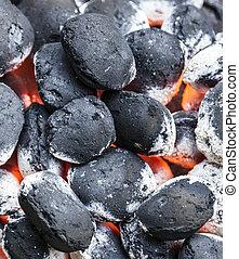achtergrond, houtskool