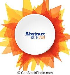 achtergrond, illustratie, zon, abstract, vector, mal, ronde