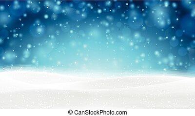 achtergrond., kerstmis, besneeuwd