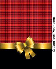 achtergrond, kerstmis, goud boog