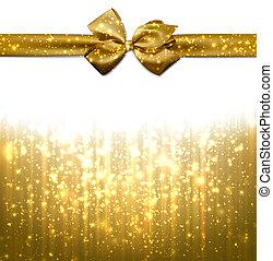 achtergrond., kerstmis, gouden, abstract