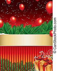 achtergrond, kerstmis, lint