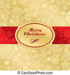 achtergrond, kerstmis, (vector), etiket