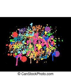 achtergrond, kleurrijke, abstract