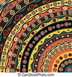 achtergrond, kleurrijke, afrikaan, motieven, ethnische , bloemen