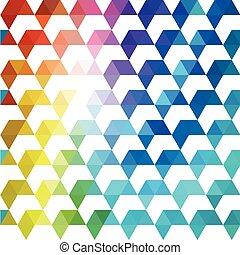 achtergrond., kleurrijke, model, shapes., retro, achtergrond, geometrisch, mozaïek