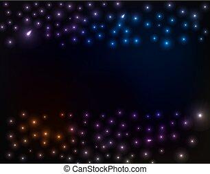 achtergrond, kleurrijke, sterretjes, ruimte