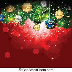 achtergrond., magisch, kerstmis