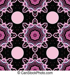 achtergrond., mandala., vector, pattern., seamless