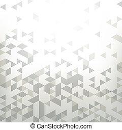 achtergrond, met, abstract, meetkunde, driehoek