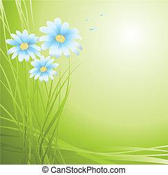 achtergrond, met, bloemen