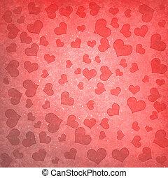 achtergrond, met, hartjes
