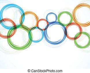 achtergrond, met, kleurrijke, cirkels