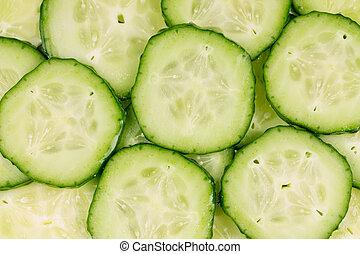achtergrond, met, komkommer