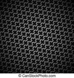 achtergrond, met, seamless, black , koolstof, textuur
