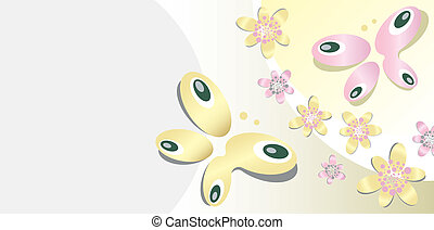 achtergrond, met, vlinder, motief