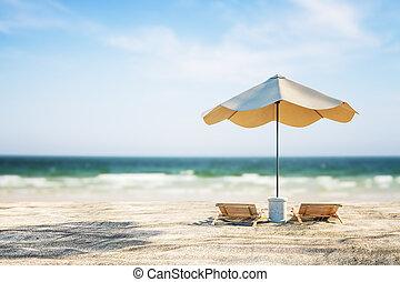 achtergrond, mooi, strand