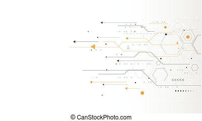 achtergrond., netwerk, concept