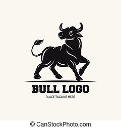 achtergrond, ontwerp, mal, stier, witte , pictogram