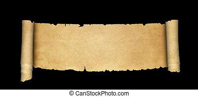 achtergrond., oud, black , boekrol, perkament