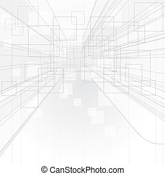 achtergrond, perspectief, schets