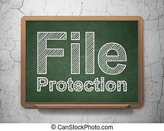 achtergrond, privacy, bescherming, chalkboard, bestand, concept: