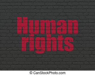 achtergrond, rechten, muur, politiek, menselijk, concept:
