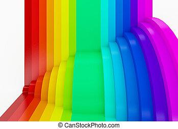 achtergrond, regenboog, abstract, perspectief, kleurrijke