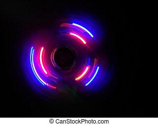 achtergrond, roze, donker purper, golf, cirkel