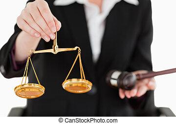 achtergrond, schalen, tegen, justitie, vasthoudend ...