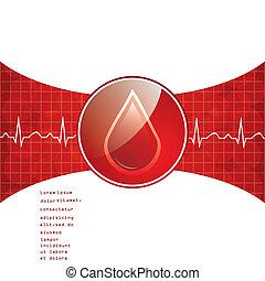 achtergrond., schenking, bloed
