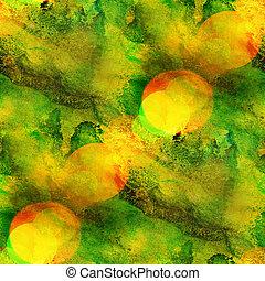 achtergrond, seamless, watercolor, textuur, abstract, papier, kleur, verf , model, water, ontwerp, gele, groene, kunst