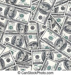 achtergrond., seamlessly, dollars