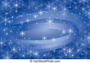 achtergrond, snowflakes, (vector)