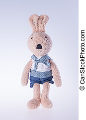 achtergrond., speelbal, bunny konijn, of