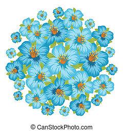 achtergrond, stylized, flowers., mooi, of, kaart