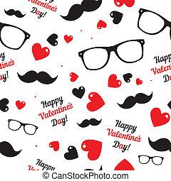 achtergrond., symbols., hipster, dag, valentine