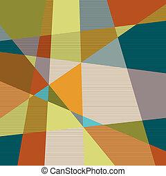 achtergrond, textured, retro, geometrisch