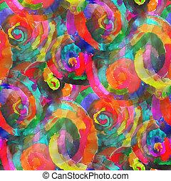 achtergrond, textuur, abstract, watercolor, seamless, gele, groene, rood, model, verf , kunst, behang, kleuren papier