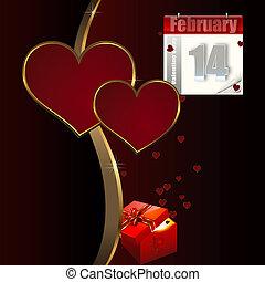 achtergrond., valentines dag