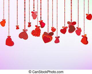 achtergrond., valentines, eps, dag, 8