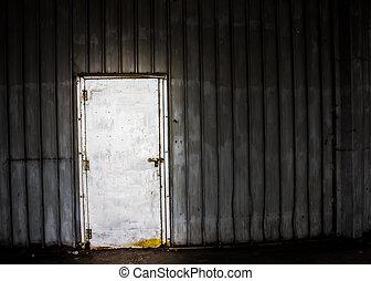 achtergrond, van, deur, in, metaal, materiaal, oud