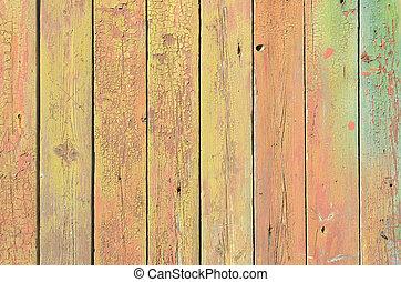 achtergrond, van, gekleurde, houten raad, met, textuur