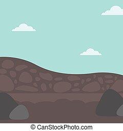 achtergrond, van, hopen, van, coal.