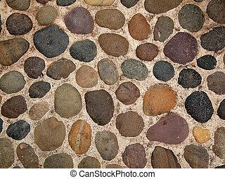 achtergrond, van, ovaal, stenen