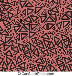 achtergrond, van, rood, driehoeken