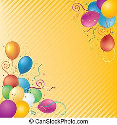 achtergrond, vector, ballons