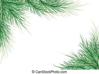 achtergrond, vector, boompje, kerstmis